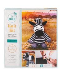 So Crafty Zebra Knitting/Crochet Kit