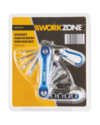 Workzone Socket Screwdriver Set - Blue