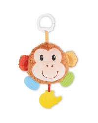 Soft Monkey Teether Rattle