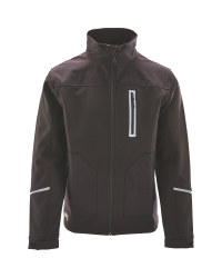 Softshell Jacket With Cordura - Black