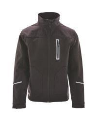 Softshell Jacket With Cordura - Black