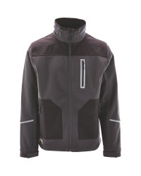 Softshell Jacket With Cordura - Grey