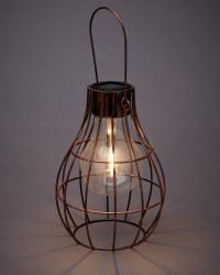 Solar Caged Light Bulb Lantern