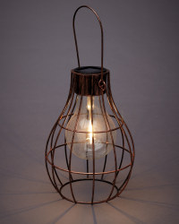 Solar Caged Lightbulb Lantern 2 Pack