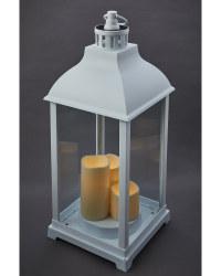 Solar Trio Candle Lanterns - White