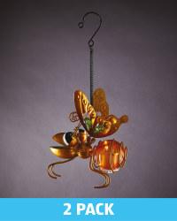 Orange Solar Hanging Bug Lights 2 Pk