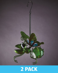 Green Solar Hanging Bug Lights 2 Pk