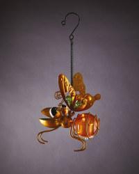 Orange Solar Hanging Bug Light