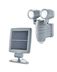 Solar LED Outdoor Spotlight - Grey