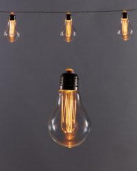Amber Solar Bulb String Lights