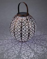 Copper Moroccan Solar Metal Lantern