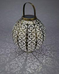 Gold Moroccan Solar Metal Lantern