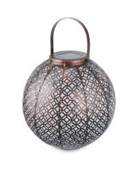Copper Jasmine Solar Metal Lantern