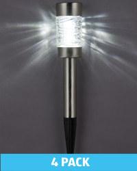 Solar Mini Bollard Stake Lights 4 Pk