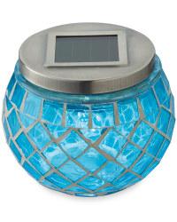 Solar Mosaic Lantern - Blue