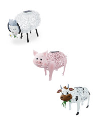 Solar Silhouette Farmyard Animals
