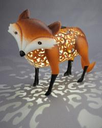 Garden Bright Fox Solar Silhouette