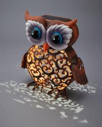 Garden Bright Owl Solar Silhouette