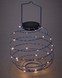 Blue Solar Spiral Light