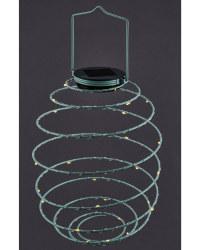 Teal Solar Spiral Light