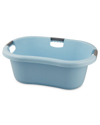 Solid Laundry Basket Pastel Blue