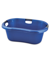 Solid Wall Laundry Basket - Blue