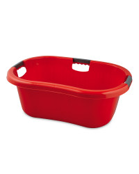 Solid Wall Laundry Basket - Red