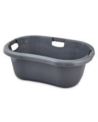 Solid Wall Laundry Basket Dark Grey