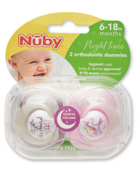 Nuby 6-18 Months Princess Soothers