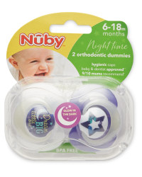 Nuby 6-18 Months Dream Big Soothers