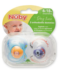 Nuby 6-18 Months Faces Soothers