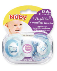Nuby Nature Night Soother 0-6 Months