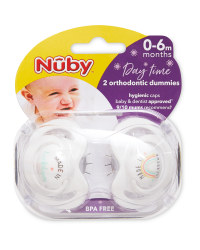 Nuby Slogan Day Soothers 0-6 Months