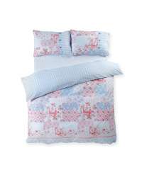 Sophia Button Double Duvet Set