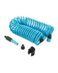 Gardenline Spiral Garden Hose Set - Blue