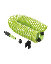 Gardenline Spiral Garden Hose Set - Green