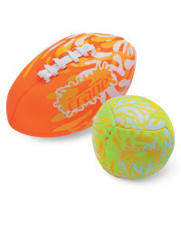 "Splashball and 6"" Football Set - Orange / Green"