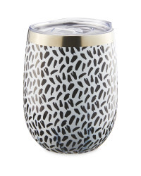 Black And White Insulated Tumbler