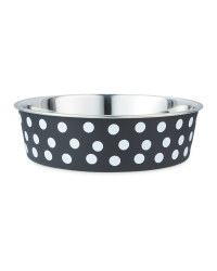 Spotty Pet Collection Bowl - Black