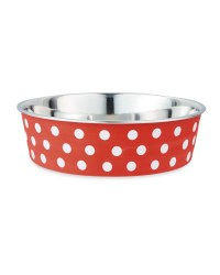 Spotty Pet Collection Bowl - Red