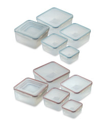 Square Clip-Lid Storage Containers