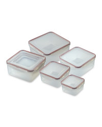 Square Clip-Lid Storage Containers - Masala