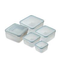 Square Clip-Lid Storage Containers - Matt Mint