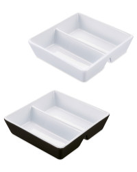 Square Divided Serving Dish