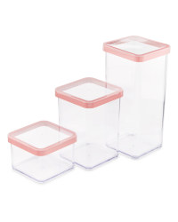 Square Food Storage Boxes 3-Pack - Marsala