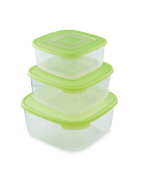 Square Food Storage Containers - Green
