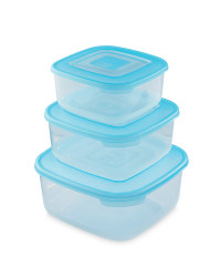 Square Food Storage Containers - Turquoise