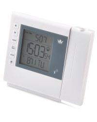 Square Projection Alarm Clock - White