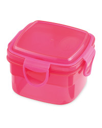 Square Snack Container - Pink