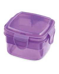Square Snack Container - Purple
